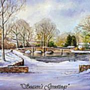 winter in ashford Derbyshire Poster