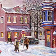 Winter In Soulard Poster by Edward Farber