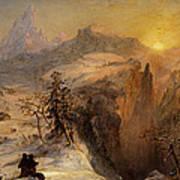 Winter In Switzerland Poster by Jasper Francis Cropsey