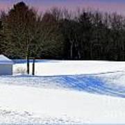 Winter In The Berkshires Poster
