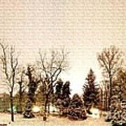 Winter Landscape Poster