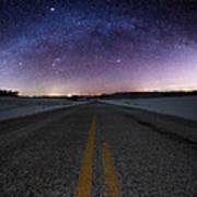 Winter Milky Way Poster