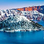 Winter Morning At Crater Lake Poster
