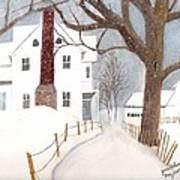 Winter Morning At The Big White House Poster