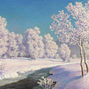 Winter Morning In Engadine Poster
