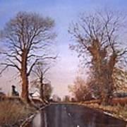 Winter Morning On Calverton Lane Poster