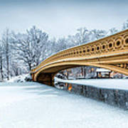 Winter Morning With Bow Bridge Poster