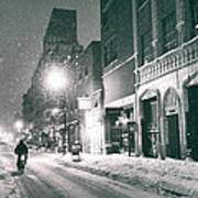 Winter Night - New York City - Lower East Side Poster
