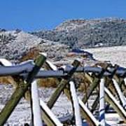 Winter On Horsetooth Mountain Poster