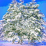 Winter Painting Poster