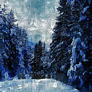 Winter Piny Forest Poster
