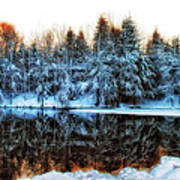 Winter Pond At Shady Grove		 Poster by Judy Duncan