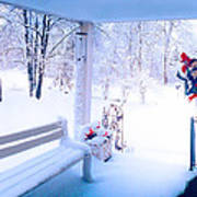 Winter Porch Poster