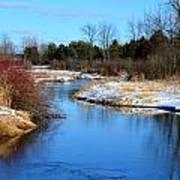 Winter River1 Poster by Jennifer  King