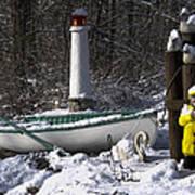 Winter Scene Michigan #1 Poster