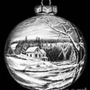 Winter Scene Ornament Poster