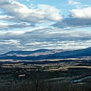 Winter Shenandoah River View Poster by Lara Ellis