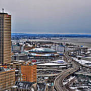 Winter Skyway Downtown Buffalo Ny Poster