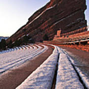 Winter Snow At Red Rocks Amphitheater Poster
