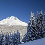 Winter Snow Over The Cascade Range Poster