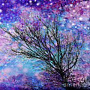 Winter Starry Night Square Poster by Ann Powell