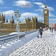Winter Sun - Houses Of Parliament London Poster