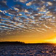 Winter Sunset 1 Poster