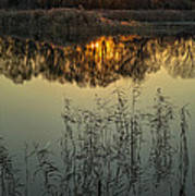 Winter Sunset Reflection Poster