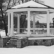 Winter Time Gazebo Poster