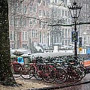 Winter Time In Amsterdam Poster