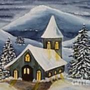 Winter Watercolor Poster