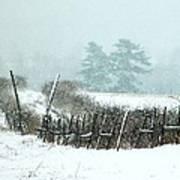 Winter Wonderland - Amazing Winter Landscape With Snow Falling Poster
