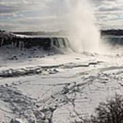 Winter Wonderland - Spectacular Niagara Falls Ice Buildup  Poster