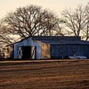 Winter's Cow Barn Poster