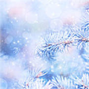 Wintertime Background Poster
