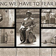 Wip - Fdr Memorial - Washington Dc Poster