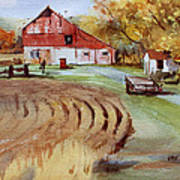 Wisconsin Barn Poster by Kris Parins