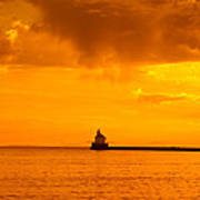 Wisconsin Point Lighthouse Sunrise 1 A Poster