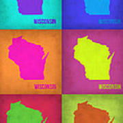 Wisconsin Pop Art Map 2 Poster