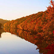 Wisconsin River Sunrise Poster