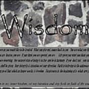 Wisdom In Stone Inspirational Poster