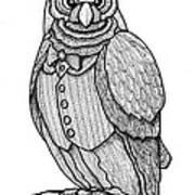 Wisdom Owl Poster