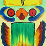 Wise Bird Totem Poster