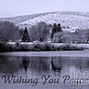 Wishing You Peace - Greeting Card Poster