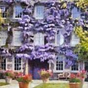 Wisteria Covered House Poster
