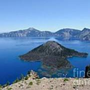 Wizard Island Crater Lake Oregon Usa Poster by John Kelly