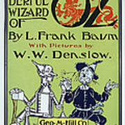 Wizard Of Oz Book Cover  1900 Poster