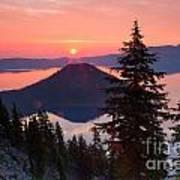 Wizzard Island Sunrise 4 Poster