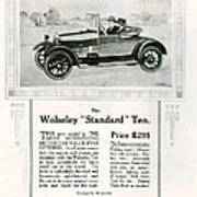 Wolseley 1923 1920s Usa Cc Cars Poster