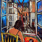 Woman At Window Poster